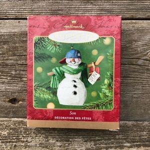 Hallmark Son Keepsake Ornament Family Snowman 2001